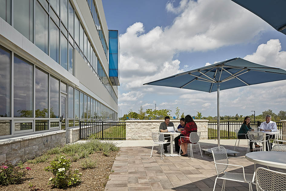 #2: Exterior spaces are maximized and utilized for work.
